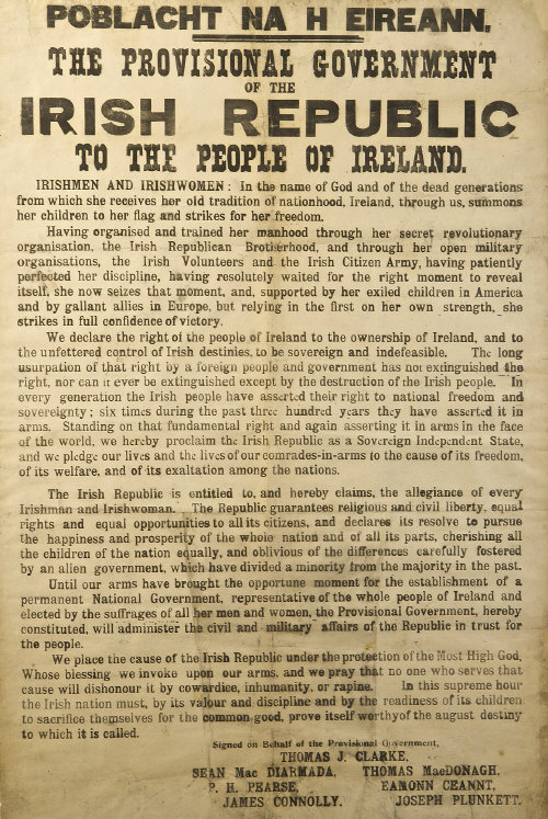 Irish Proclamation 1916.