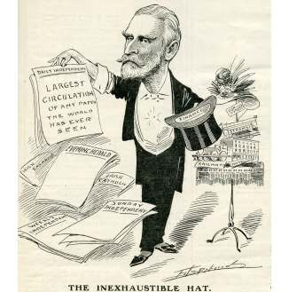 Cartoon from 1908 of William Martin Murphy owner of the Irish Independent and other newspapers.