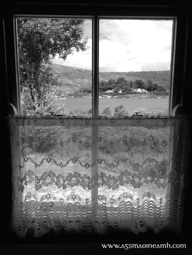 View from Pearse cottage B&W