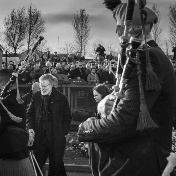 Martin McGuinness Funeral, Derry City Cemetery,